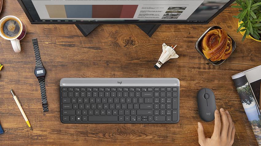 Bộ Keyboard Mouse Logitech Wireless MK470 Chính Hãng