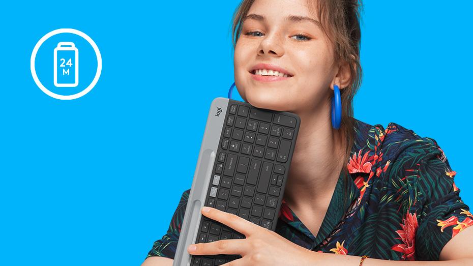 Bàn phím không dây Wireles, Bluetooth Logitech K580 Chính Hãng