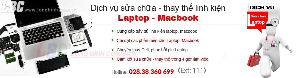 sửa chữa laptop - macbook - pin - mainboard
