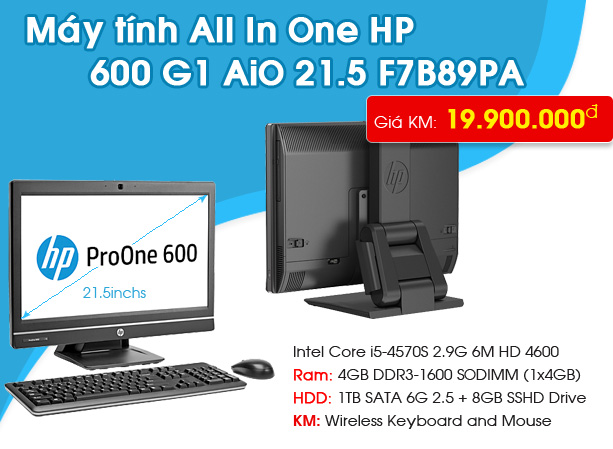 HP ProOne 600 G1 AiO 21.5 F7B89PA
