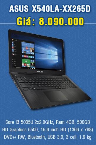 ASUS X540LA-XX265D (Đen)