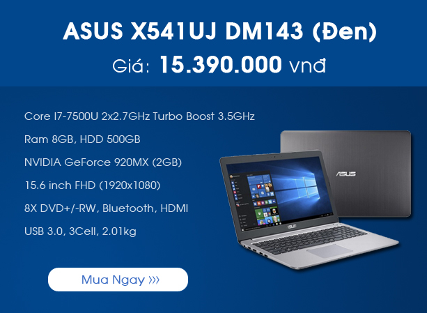 Asus X541UJ-DM143 (Đen)