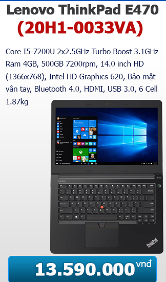 Lenovo ThinkPad E470 (20H1-0033VA)