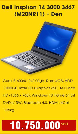 Dell Inspiron 14 3000 3467 ((M20NR11) Đen