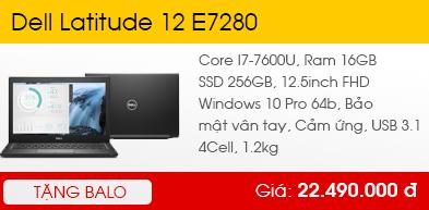 Dell Latitude 12 E7280 - Core I7-7600U 2x2.8GHz