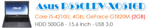 Asus P550LDV-XO516D Black Core - i5 - 4210U