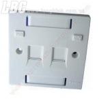 OUTLET BOX AMP Hộp đấu dây RJ45(mặt nạ) 2 port, âm tường
