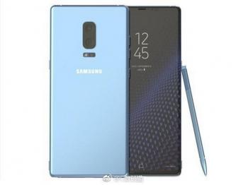 Galaxy Note 8 lộ diện qua ảnh render với phiên bản xanh san hô