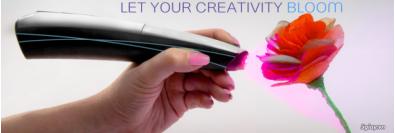 cây bút vẽ 3D CreoPop Starter và 3 hộp mực(1 hộp mực có 3 màu) dùng cho ipad air , ipad pro