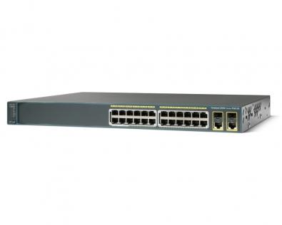 CISCO WS-C2960+24TC-L Switch 24 Port 10/100Mbps+2Port 1GB SFP LAN base...