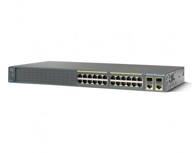 CISCO WS-C2960+24TC-S Switch 24 Port 10/100Mbps + 2Port 1GB SFP LAN li...