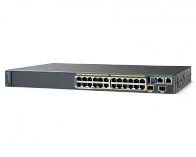 CISCO WS-C2960S+24TD-L Switch 24Port 10/100/ 1000Mbps+10GB SFP LAN bas...