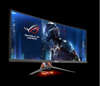 """Màn hình vi tính 34"""" ASUS PG348Q LCD-IPS cong, lọc ánh sáng xanh, Resolution 3440x1440 21:9, 100,000,000:1, chống lóa. Displayport, HDMI, USB 3.0, 2 loa."""